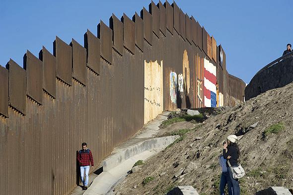 """גבול ארה""""ב-מקסיקו, צילום: בלומברג"""