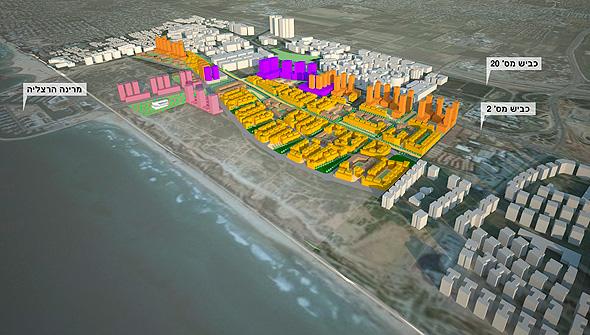 תוכנית חוף התכלת, הדמיה