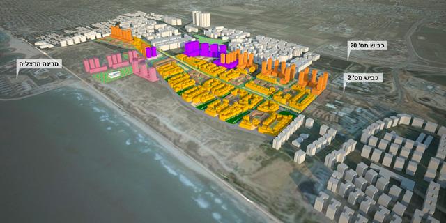 תוכנית הענק של הרצליה בחוף התכלת אושרה להפקדה בוועדה המחוזית