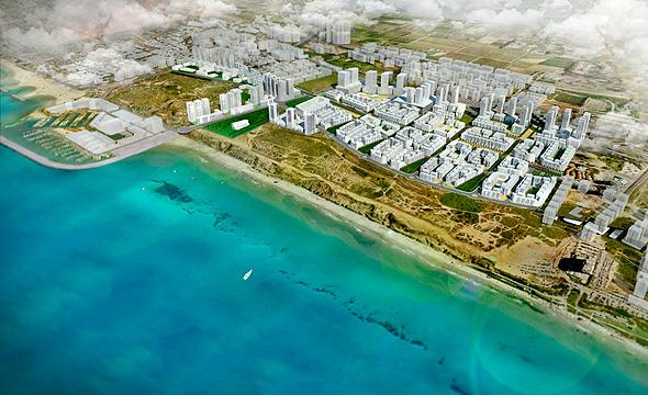 הדמיה תוכנית חוף התכלת