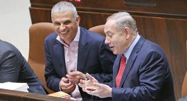 בנימין נתניהו ו משה כחלון בכנסת הצבעה על תקציב 2017, צילום: עמית שאבי