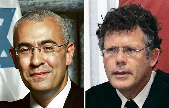 """השופטים יצחק עמית (מימין) ועופר גרוסקופף. """"פסק הדין – תוצאה של התנהלות קלוקלת מצד המדינה"""""""
