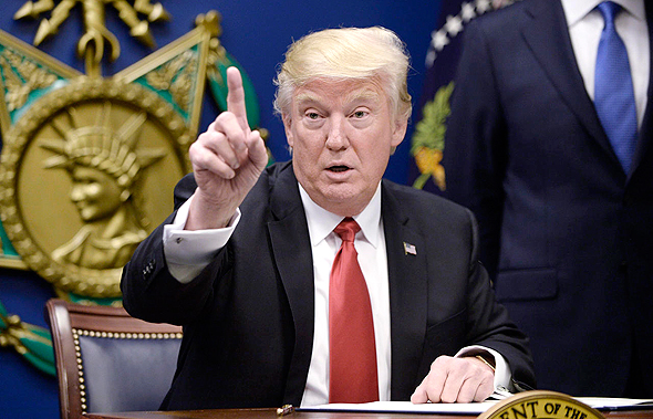 """דונלד טראמפ נשיא ארה""""ב, צילום: אי פי איי"""