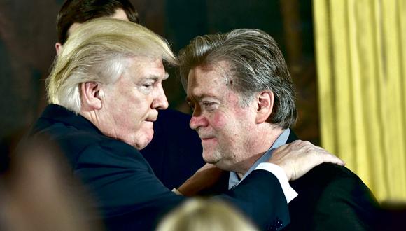 סטיב בנון ודונלד טראמפ, צילום: איי אף פי