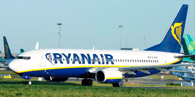 לראשונה: טיסה של ריינאייר נחתה בישראל