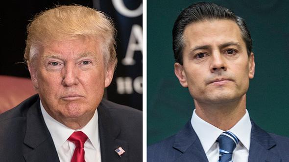"""אנריקה פניה נייטו נשיא מקסיקו ונשיא ארה""""ב דונלד טראמפ, צילום: גטי אימג'ס"""