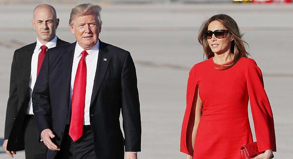 הזוג הראשון מלינה ו דונלד טראמפ, צילום: איי אף פי