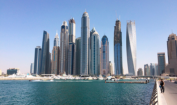 The Skyline of Dubai. Photo: Yonatan Kessler