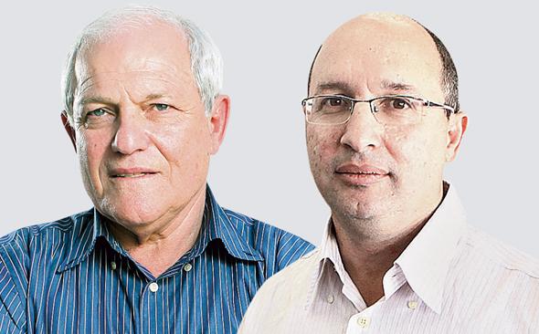 מימין אבי ניסנקורן ו חים כץ, צילומים: אוראל כהן , עמית שעל