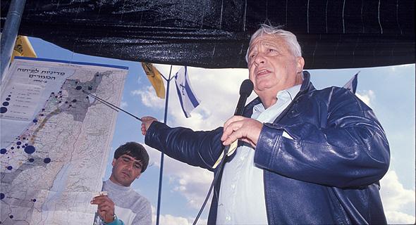 אריק שרון. 80 אלף התחלות בנייה בתקופת כהונתו כשר השיכון ב-1991