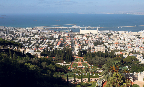 A view of the Haifa Bay. Photo: Elad Gershgoren