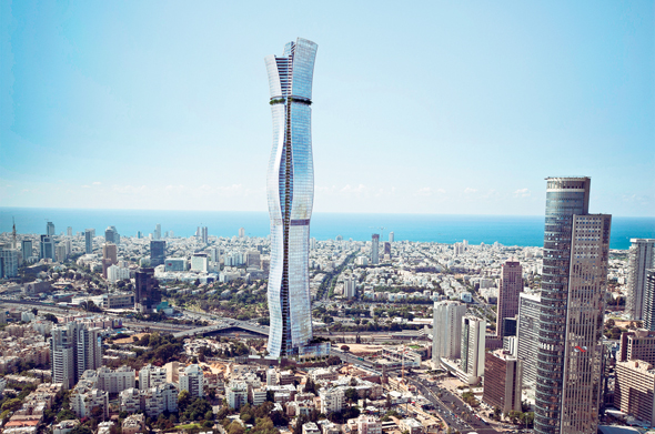 Illustration of Israel's future tallest tower. Image: Miloslavsky Architects