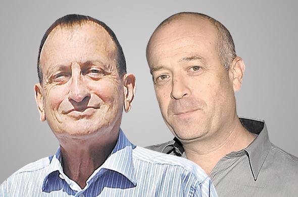 מימין: ראש עיריית רמת השרון אבי גרובר וראש עיריית תל אביב רון חולדאי