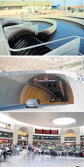 """כמה מהפרויקטים של מנרב: טרמינל 3 בנתב""""ג, המנהרות לירושלים, ומתקן טיהור השפכים בבאר שבע"""
