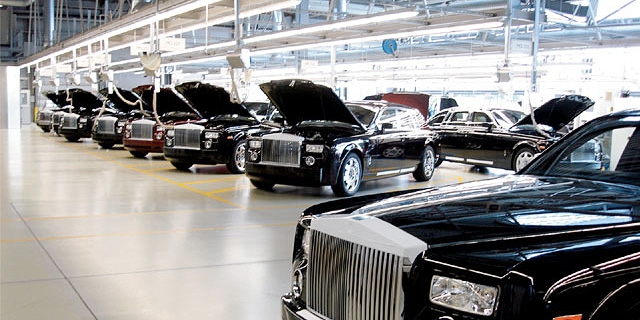מפעל רולס רויס בבריטניה, צילום: bmwcoop
