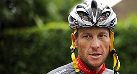 לאנס ארמסטרונג רוכב אופניים, צילום: איי אף פי