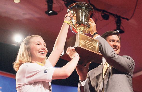 קרי קלוז מנצחת בתחרות האיות הלאומית. האימון האפקטיבי צריך להיות אימון מסוים מאוד, אימון מכוון