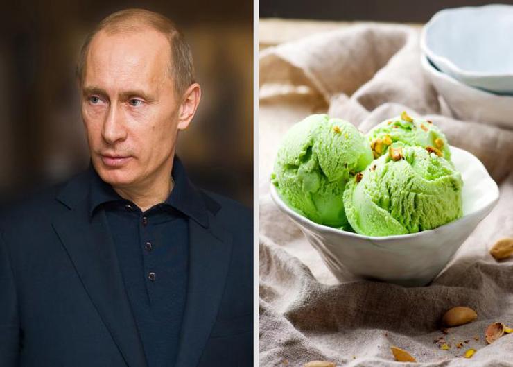פוטין וגלידת הפיסטוק