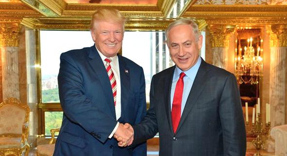 "בנימין נתניהו ו דונלד טראמפ, צילום: קובי גדעון לע""מ"
