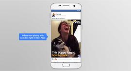 פייסבוק סרטונים סאונד, צילום: newsroom.fb.com