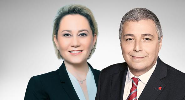 """מנכ""""ל הפועלים אריק פינטו ומנכ""""לית דיסקונט לילך אשר-טופילסקי"""