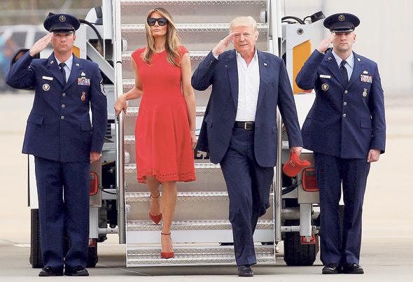 דונלד טראמפ ו מלניה טראמפ, צילום: רויטרס