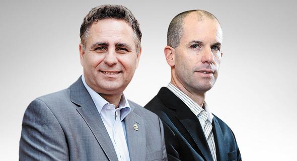 """מימין: מנכ""""ל סופר־פארם ניצן לביא ובעלי ניו־פארם רמי שביט"""