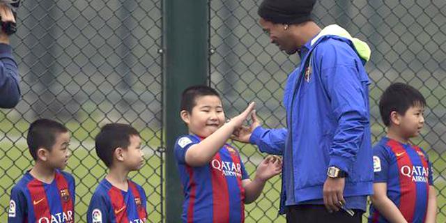 ברצלונה השיקה אקדמיית כדורגל ראשונה מחוץ לספרד - בסין