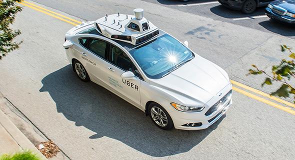 """מכונית אוטונומית אובר, צילום: יח""""צ אובר"""