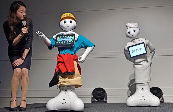 פפר הרובוט בהדגמה. יורשיו יהיו חכמים בהרבה