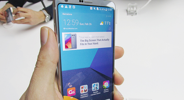 השקת טלפון סלולרי LG G6 תערוכת המובייל MWC ברצלונה 1, צילום: עומר כביר