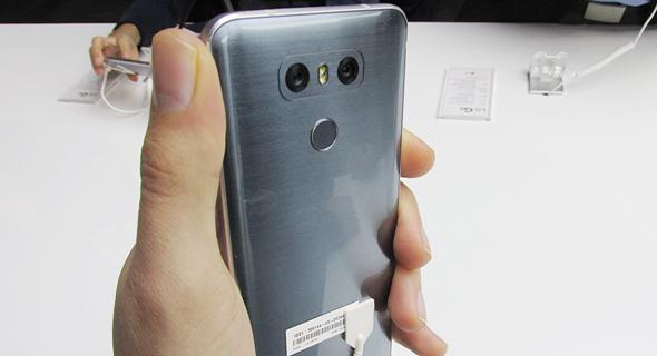 השקת טלפון סלולרי LG G6 תערוכת המובייל MWC ברצלונה 5, צילום: עומר כביר
