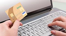 תשלום כרטיס אשראי באינטרנט, צילום: shutterstock