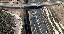 כביש 6 מבט מלמעלה, צילום: עמית שעל