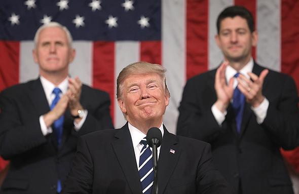 דונלד טראמפ נאום ב קונגרס, צילום: אי פי איי
