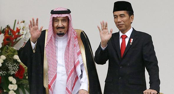 סלמן מלך סעודיה עם נשיא אינדונזיה ג