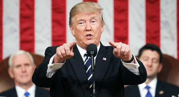 הנשיא דונלד טראמפ אתמול בקונגרס, צילום: רויטרס