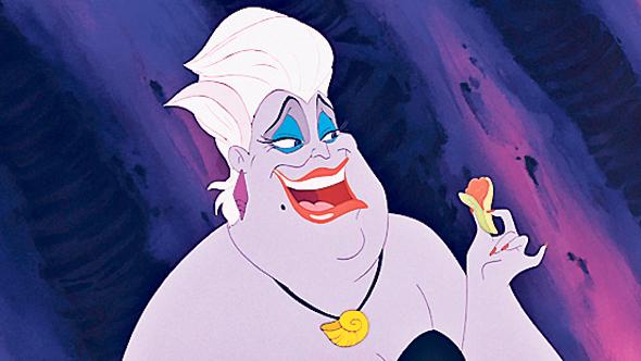 """אורסולה מ""""בת הים הקטנה"""". עוצבה בדמות הדראג קווין דיווין"""