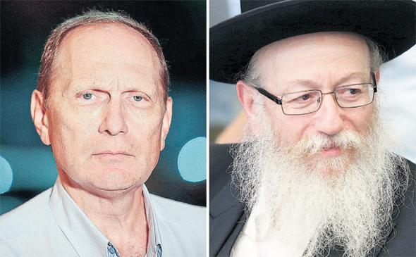 """שר הבריאות יעקב ליצמן ויו""""ר הסתדרות הרופאים ליאוניד אידלמן"""