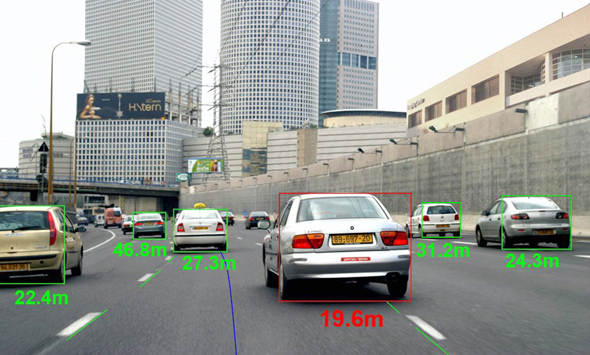 Mobileye road sensors. Photo: PR