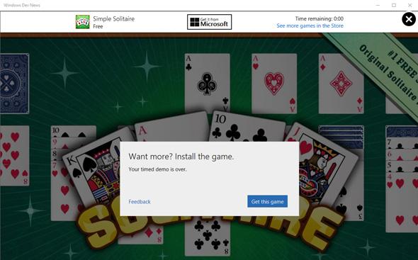 אפליקציות הניסיון של ווינדוס 10 יגבילו את זמן השימוש לכמה דקות
