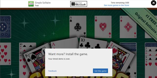 אפליקציות הניסיון של ווינדוס 10 יגבילו את זמן השימוש לכמה דקות, צילום מסך: מיקרוסופט