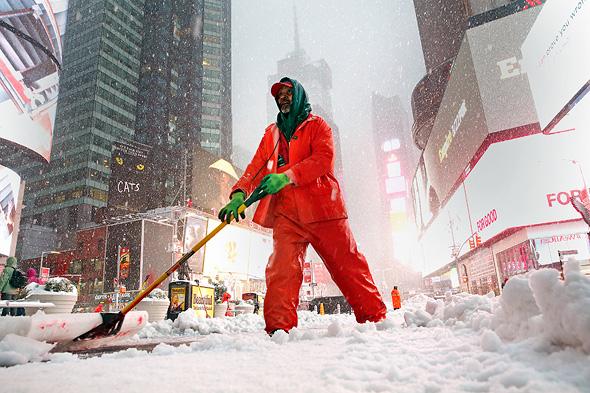 מפלסים שלג בניו יורק