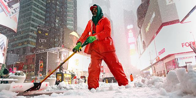 מפלסים שלג בניו יורק, צילום: אם סי טי