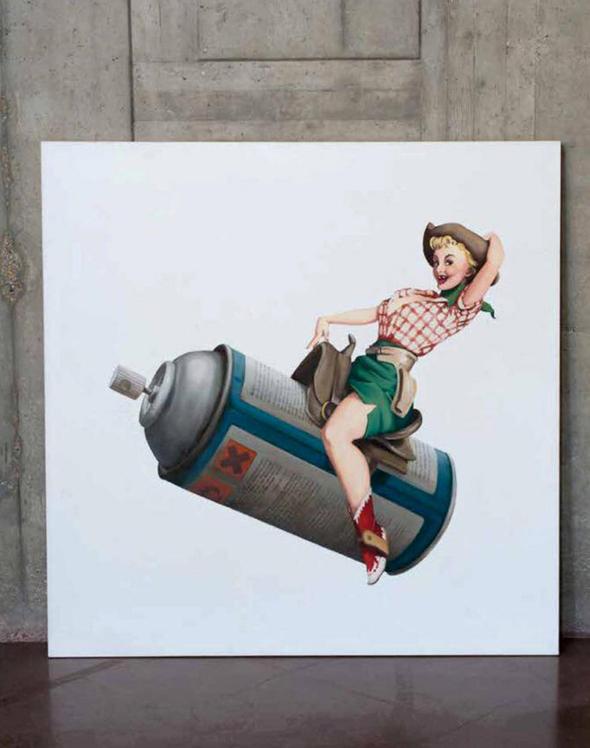 יצירה של אמן הרחוב בנקסי Rodeo Girl