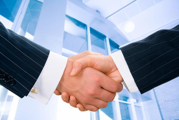 Closing a deal (illustration)