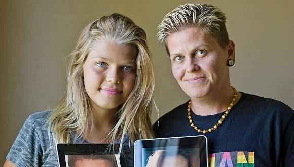 קורי מייסון ואביה שהיה אמה