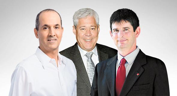 מימין: רון וקסלר, דורון ספיר ורון פאינרו