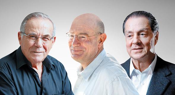 מימין אייל עופר ארנון מילצ'ן ו סטף ורטהיימר מופיעים ברשימת עשירי העולם של פורבס, צילום: טל כהן, גיל נחושתן, אביגיל עוזי
