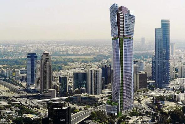 הדמיית מגדל בין ערים - המגדל הגבוה בישראל